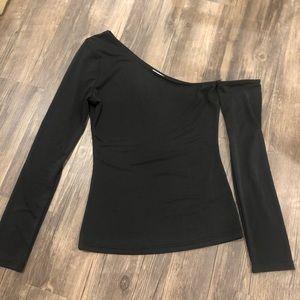 Asymmetrical Black Shirt